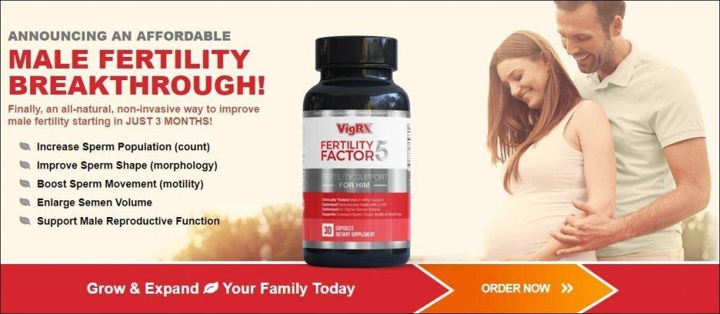 Fertility Factor 5 website screenshot