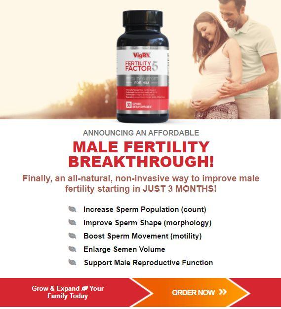 Image of Fertility Factor 5 website