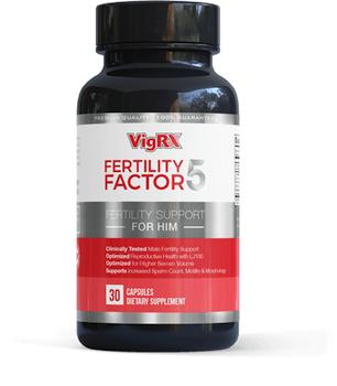Fertility Factor 5 front label on bottle